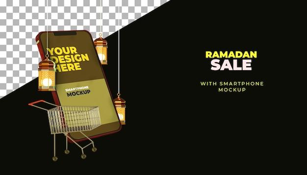 Maquette de smartphone ramadan kareem