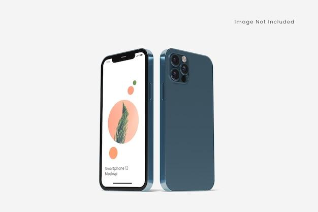 Maquette de smartphone réaliste isolée