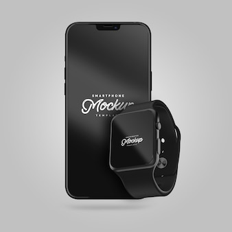 Maquette de smartphone et de smartwatch