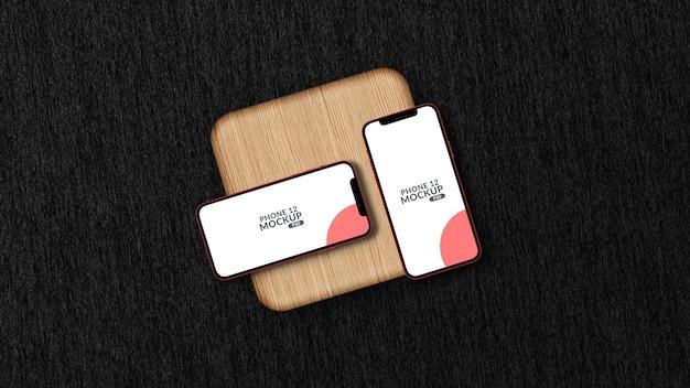Maquette de smartphone verticale et horizontale isolée