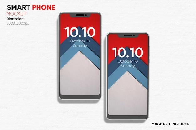 Maquette De Smartphone Vue De Face PSD Premium