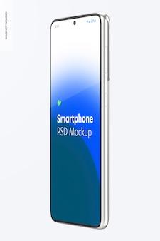 Maquette de smartphone, vue latérale gauche