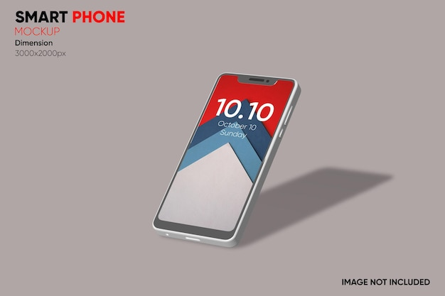 Maquette de smartphone vue latérale