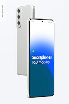 Maquette de smartphone, vues avant et arrière 02