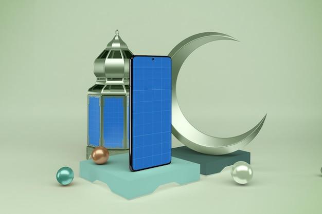 Maquette de smartphones ramadan ramadan