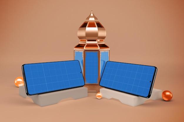 Maquette de smartphones ramadan