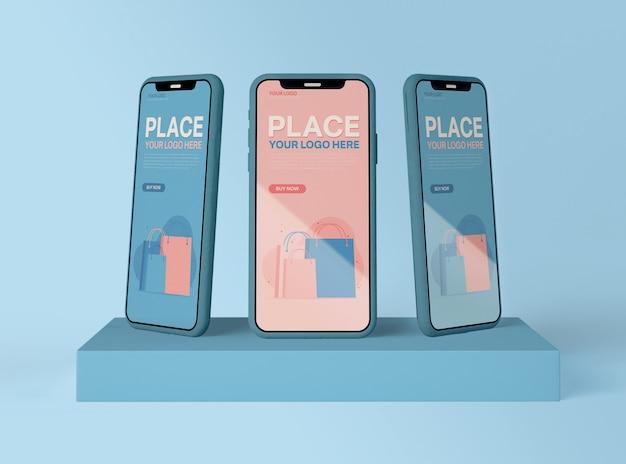 Maquette de smartphones