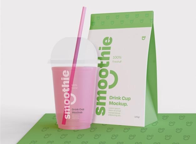 Maquette de smoothie et d'emballage
