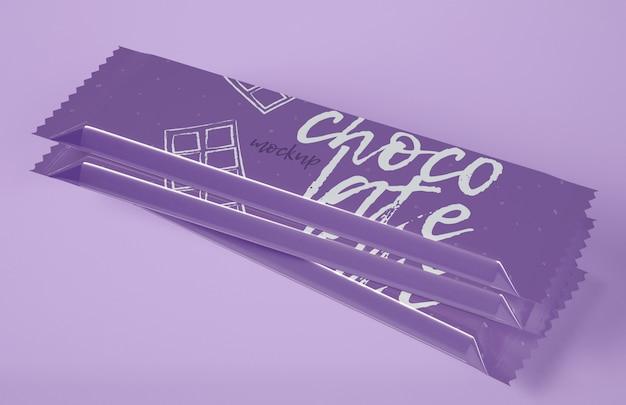 Maquette de snack-bar au chocolat