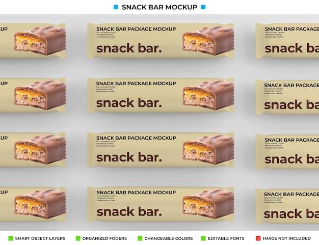 Maquette de snack-bar isolée
