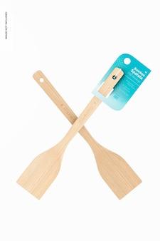 Maquette de spatules en bambou, flottant
