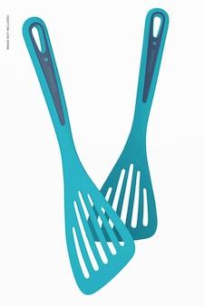 Maquette de spatules de cuisine, flottant