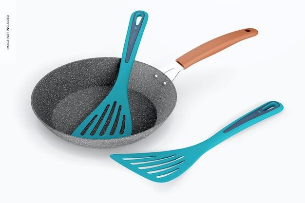 Maquette de spatules de cuisine