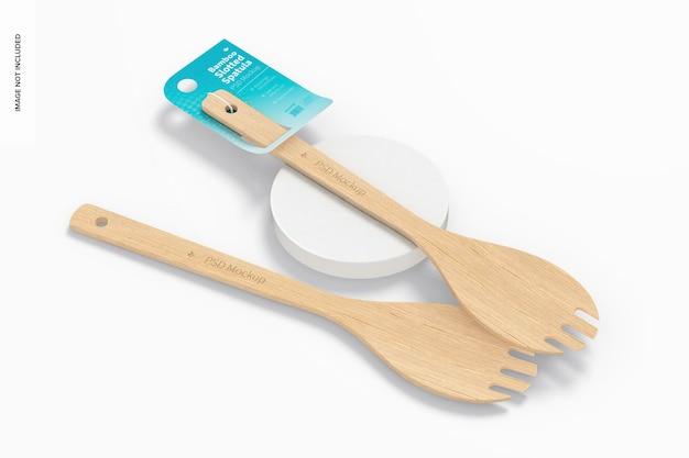 Maquette de spatules à fentes en bambou