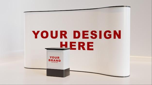 Maquette de stand d'affichage moderne