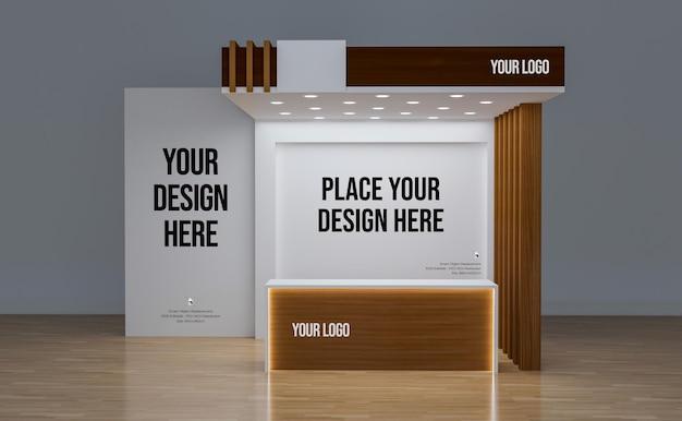 Maquette de stand d'exposition avec design mural