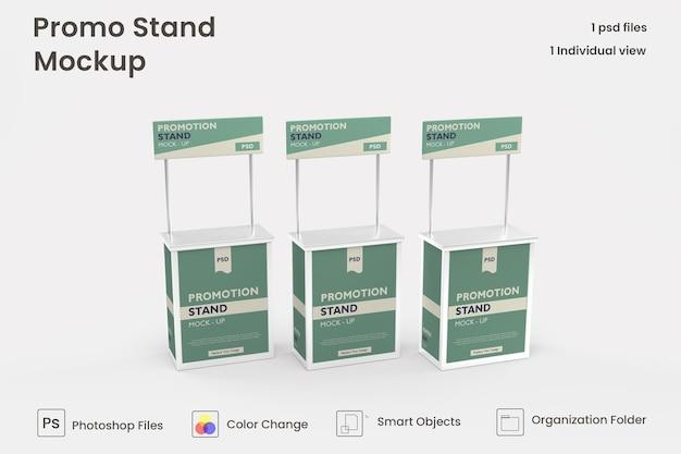 Maquette de stand promotionnel 3d premium psd