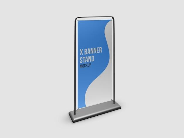 Maquette de stand x-banner isolée