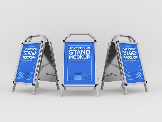 Maquette de stands publicitaires