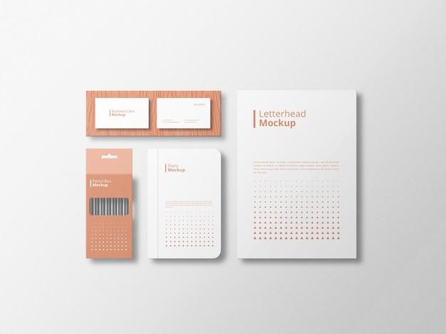 Maquette stationnaire minimaliste avec fond blanc