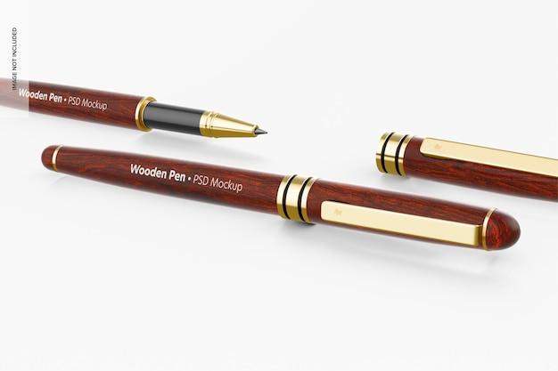 Maquette de stylos en bois