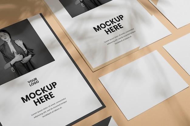 Maquette de superposition d'ombre de brochure à plat