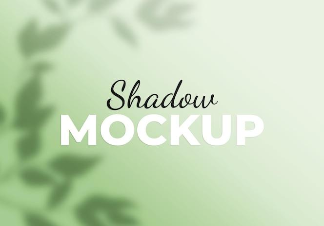 Maquette de superposition d'ombre florale
