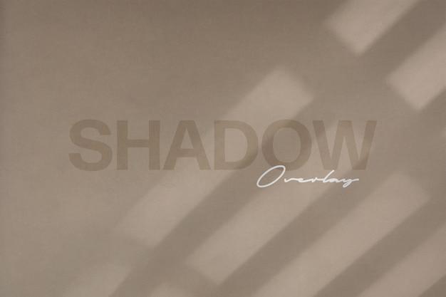 Maquette de superposition d'ombres