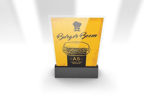Maquette de support de menu en plastique acrylique