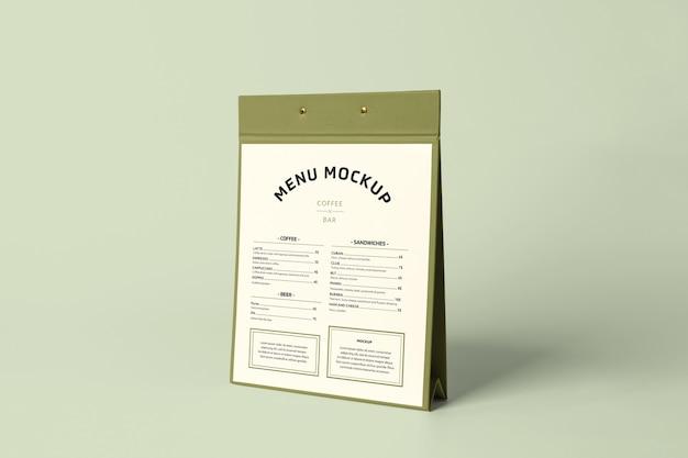 Maquette de support de menu