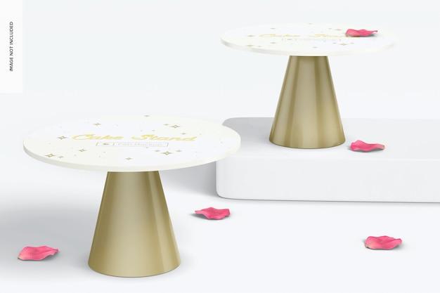 Maquette de supports à gâteaux