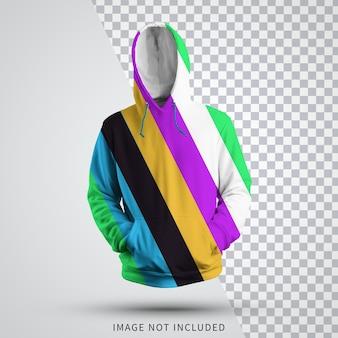 Maquette de sweat à capuche 3d entièrement modifiable