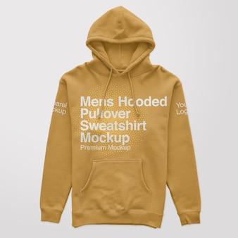Maquette de sweat-shirt à capuche pour hommes