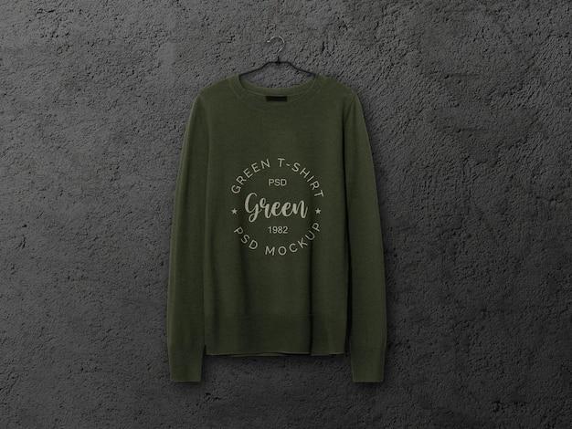 Maquette de sweat vert olive