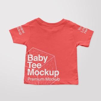 Maquette de t-shirt au dos pour bébé