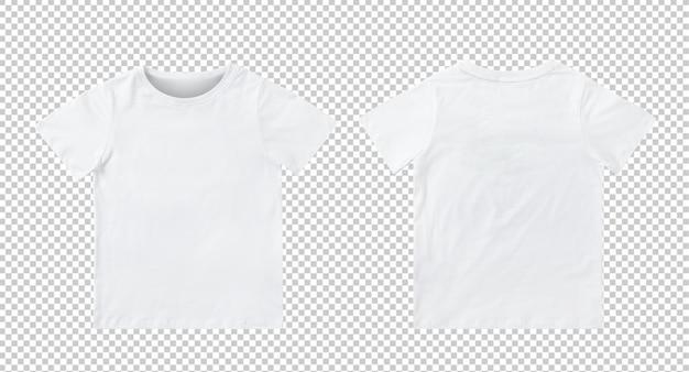 Maquette de t-shirt blanc vierge pour enfants