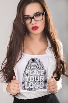 Maquette de t-shirt femme