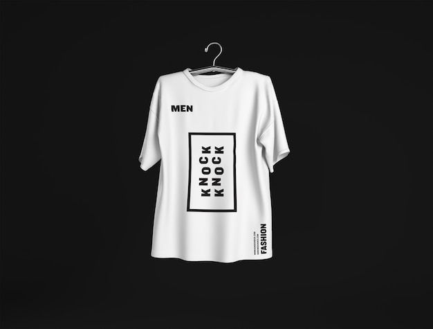 Maquette de t-shirt homme islolated