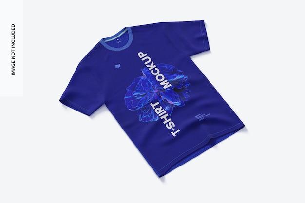 Maquette de t-shirt à manches courtes en trois mélanges pour hommes vue de gauche