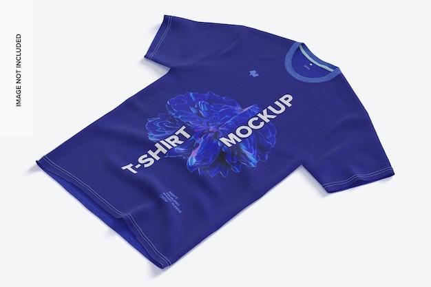 Maquette de t-shirt à manches courtes en trois mélanges pour hommes