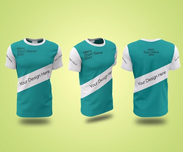 Maquette de t-shirt à manches triés pour hommes showcase