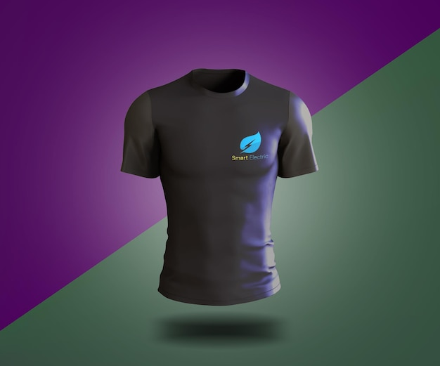 Maquette de t-shirt noir