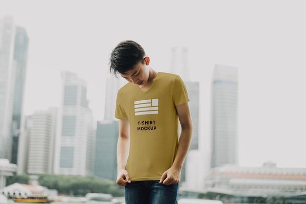 Maquette de t-shirt pour hommes