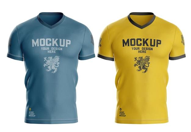 Maquette de t-shirt de sport pour hommes
