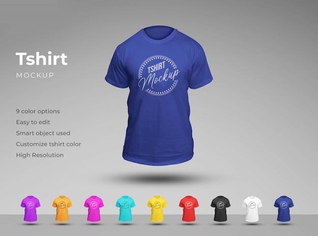Maquette de t-shirt unisexe de base. effet mannequin fantôme