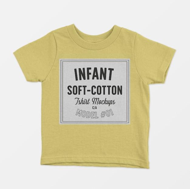 Maquette de t-shirts en coton doux pour bébé