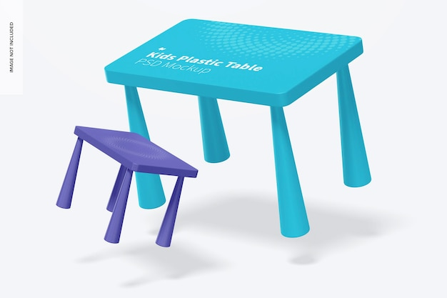 Maquette de table en plastique pour enfants, tombant