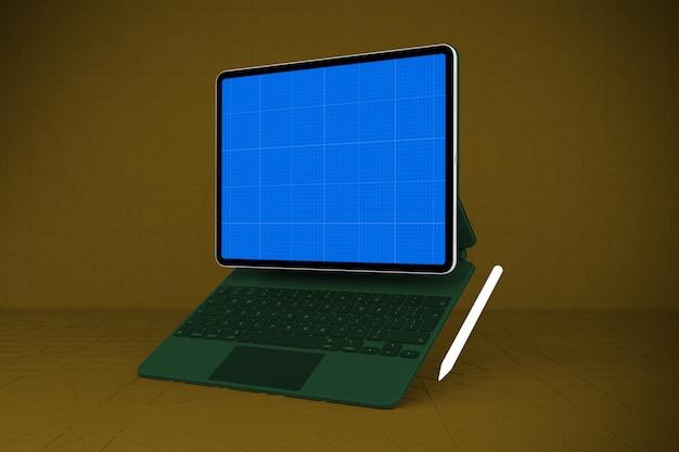 Maquette de tablette et de clavier magique