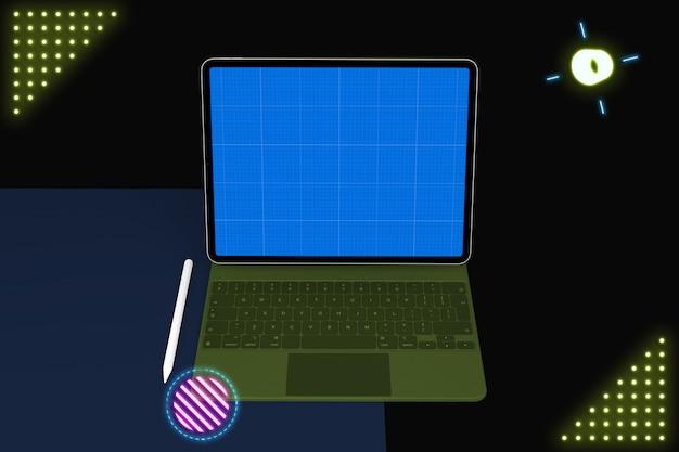 Maquette de tablette et de clavier