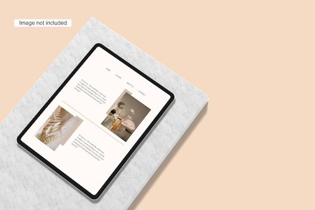 Maquette de tablette minimale
